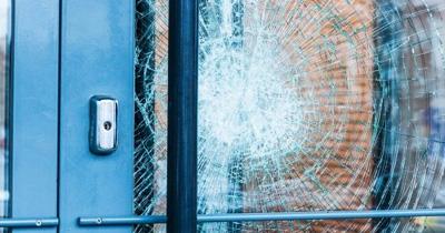 broken window with no window film