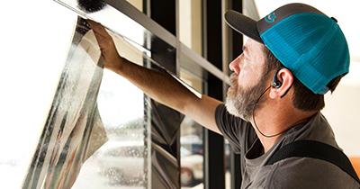 redirect light window film installation