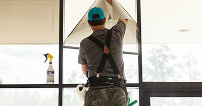 save energy window film installation